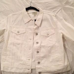 White jcrew jean jacket